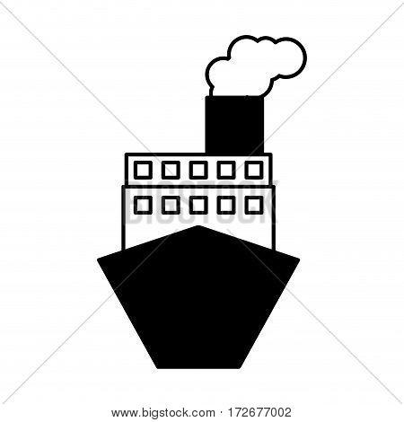ship boat delivery service vector illustration design