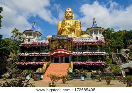 Golden Temple of Dambulla in Dambulla, Central Province, Sri Lanka, Asia