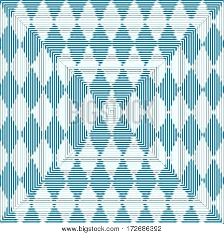 Oktoberfest blue abstract striped checkered background. Vector illustration
