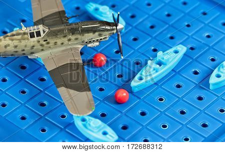 Toy Military Airplane Is Attacking Toy Ships