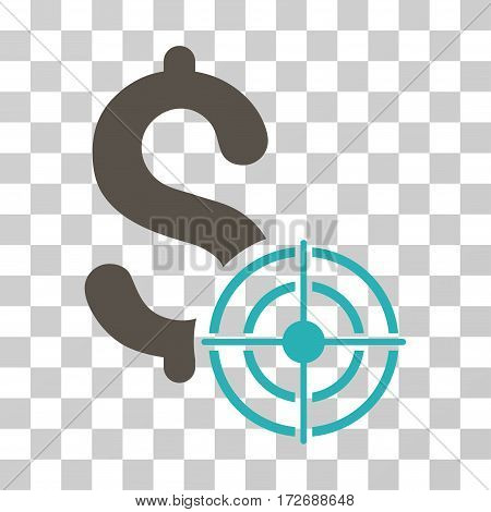 Business Target icon. Vector illustration style is flat iconic bicolor symbol grey and cyan colors transparent background. Designed for web and software interfaces.