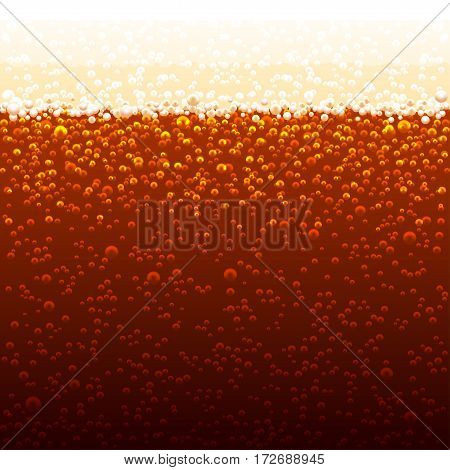 Vector background of cola bubbles. Sparkling bubbles