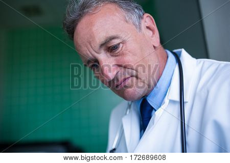 Close-up of a doctor at the hospital