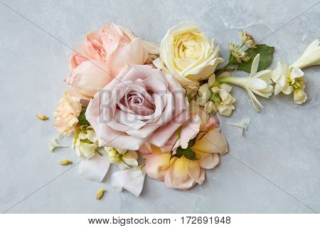 bouquete with roses