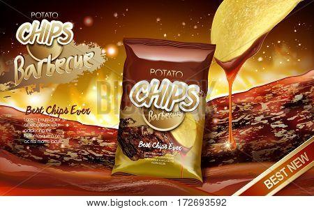 Potato Chips Ad Barbecue