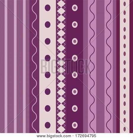 Bright Colorful seamless stripes pattern. Abstract vector background.