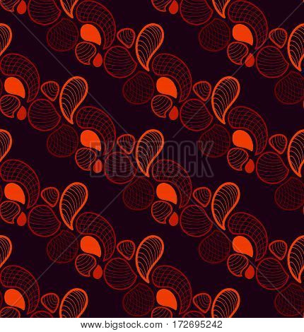 Abstract retro seamless pattern in vector. Endless ornate background
