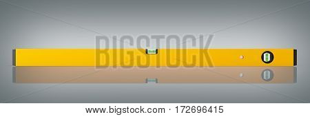 Yellow Building Level On Grey Background 3D Render