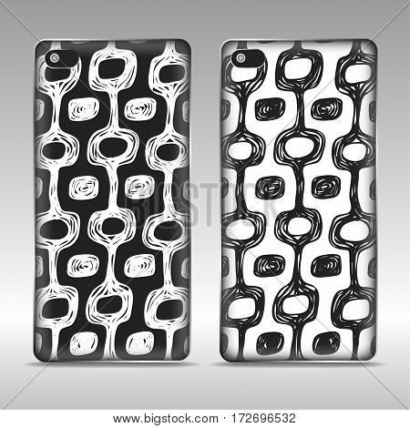 Mobile phone case design with colored brazil style print. Vector Ipanema pattern.