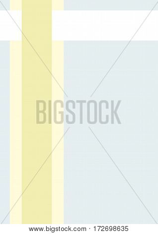 Business cover. Typographical vector design A4. Vertical rectangular. Simple geometric style Light yellow and green lines on a blue background
