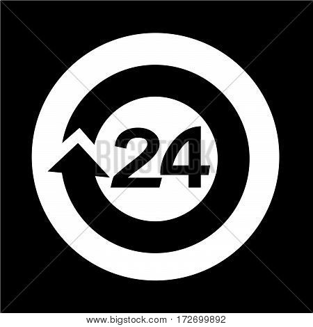 an images of Or pictogram open 24 hours Icon