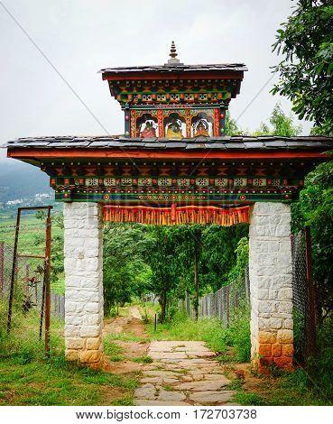 Traditional Houses In Thimphu, Bhutan