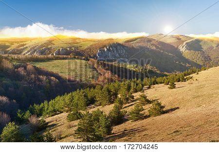Summer Landscape Of The Southern Crimea Russia.