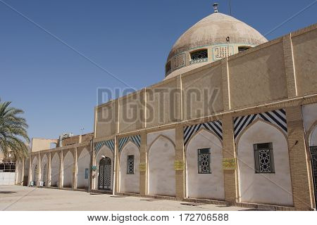 YAZD, IRAN - OCTOBER 9, 2016: Rig Mosque, one of the sights of Yazd on October 9, 2016 in Iran, Asia
