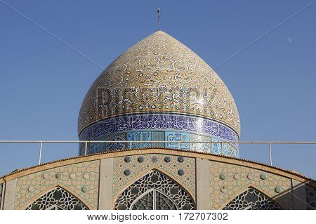 Hazier Mosque, one of the sights of Yazd, Iran, Asia