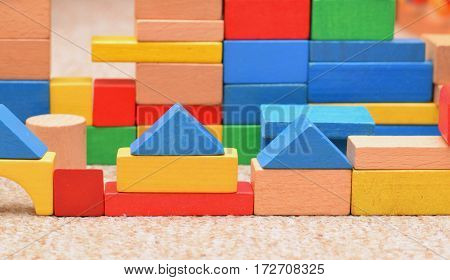 A differen building bricks in chlid room