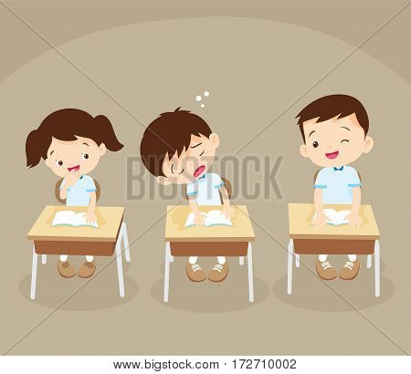 Student Boy Sleeping In Classroom