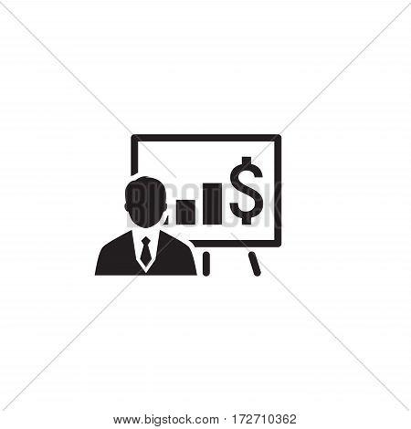 Business Training Icon. Online Learning. Flat Design. Isolated Illustration.