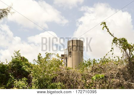 Concrete factory in nature in Bamburi near Mombasa in Kenya