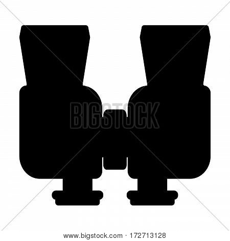 Binoculars Isolated On White Background. Vision Military Instrument. Discovery Equipment Optical Zoo