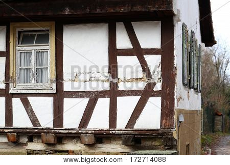 Tudor style house / Facades of houses in the old style