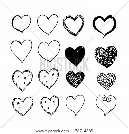 an images of Or pictogram heart hand draw icon
