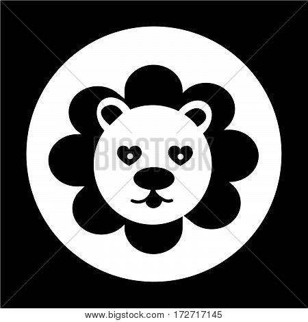 an images of Or pictogram Cute Lion Icon