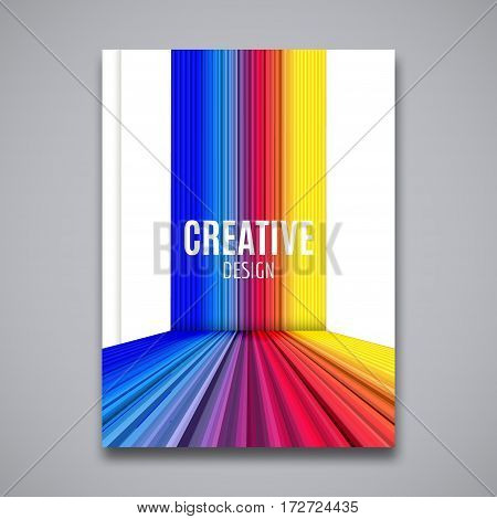 Brochure cover paper design template. Flyer page layout booklet.