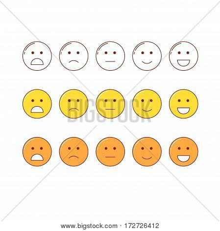 Feedback Emoticon Scale.