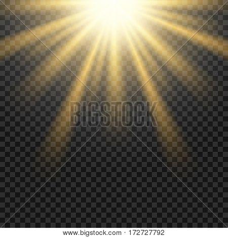 Vector sun light lens flare template illustration. Design flare effect.