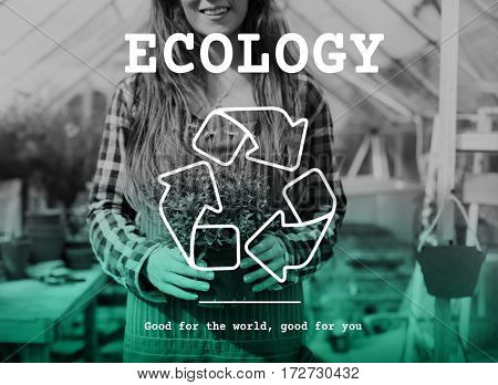 Ecology Recycle Sign Icon Symbol Word