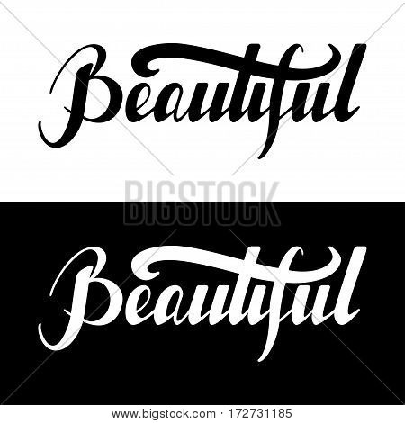 Hand written retro lettering Beautiful made in vector. Vintage letters design with cute stars. Postcard, greeting card, poster, t-shirt design apparel.