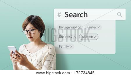 Search engine box random concept