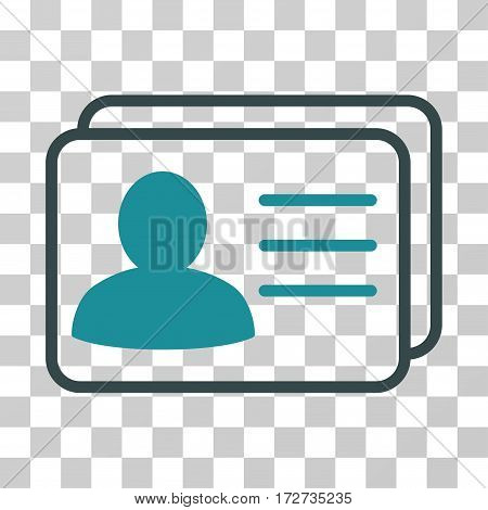 Account Cards icon. Vector illustration style is flat iconic bicolor symbol soft blue colors transparent background. Designed for web and software interfaces.