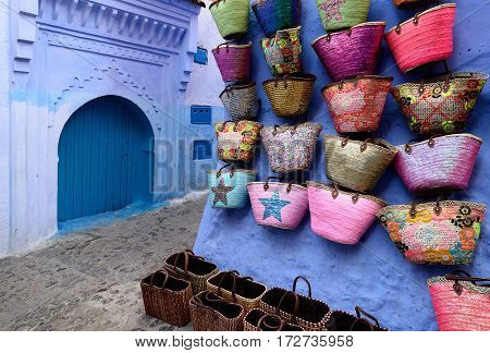Blue old city (medina) of Chefchaouen city in Morocco Africa