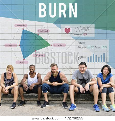 Diverse People Fitness Burn