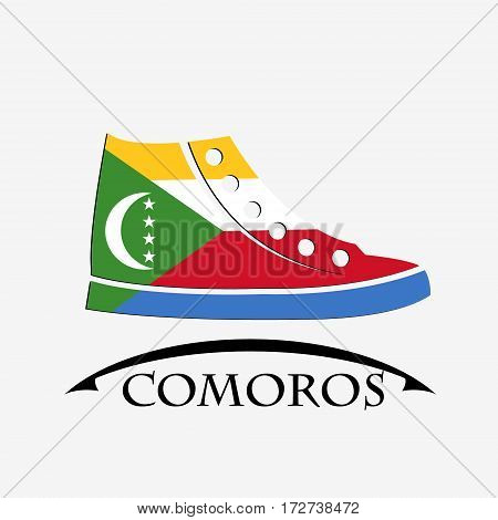 shoes icon made from the flag of Comoros