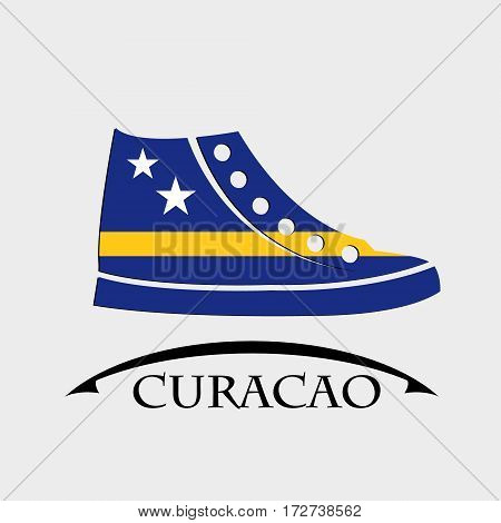 shoes icon made from the flag of Curacao