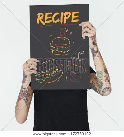 Burger hotdog cola fast food menu