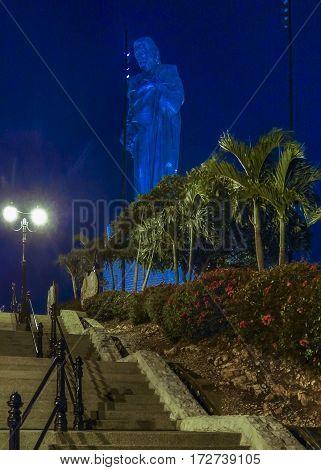 Jesuschrist Sculpture Cerro Del Carmen, Guayaquil