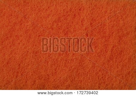 Orange texture of washcloths - - macro