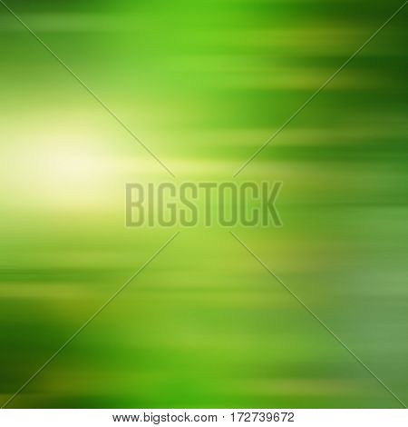 Abstract green background with yellow clouds for springtime