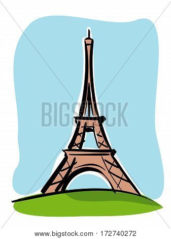 vector illustration of the Tour Eiffel of the city of Paris