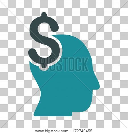 Commercial Intellect icon. Vector illustration style is flat iconic bicolor symbol, soft blue colors, transparent background. Designed for web and software interfaces.