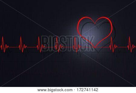 Abstract Heartbeat Illustration