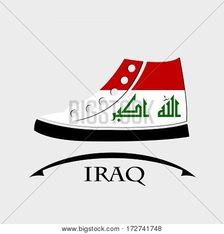 shoes icon made from the flag of Iraq