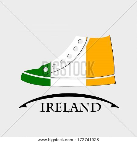 shoes icon made from the flag of Ireland