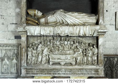 Tomb On Palace Of Pope At Avignon