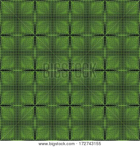 Halftone green and black inverse patterns composed as chessboard seamless vector background