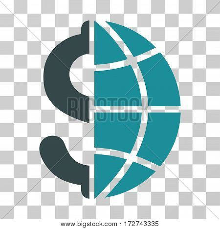 Global Business icon. Vector illustration style is flat iconic bicolor symbol, soft blue colors, transparent background. Designed for web and software interfaces.